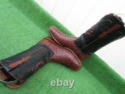 Vintage Black Jack Belly Cut Alligator Crocodile Exotique Rare Western Boot 9 D