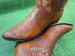Vintage Tony Lama Hornback Lizard Exotique Rare Western Cowboy Hommes Bottes 10 D