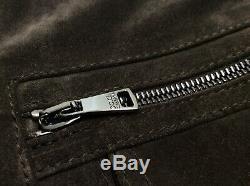 Vtg $ 2100 Dolce Gabbana 100% Cuir Vachette Shirt Veste Suede Western Cowboy