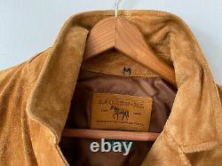 Vtg Ralph Lauren Brown Suede Leather Fringe Jacket Toggle Buttons Western Xs