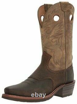 Western Boots 11uk 12d Us Cowboy Boots Ariat Men's Heritage Roughstock