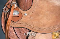 Western Horse Wade Saddle 15 16 En Cuir Ranch Roping Tan U-4098