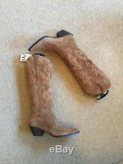 Zara Tan Brown Suede Knee Western High Bottes Uk6 Eu39 Us8 # 644